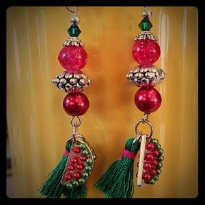 Handcrafted Special Summer Treat🍉❤💚EARART